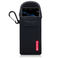 ShockSock Neoprene Pouch Soft Case With Carabiner in Black for Huawei P10 Lite