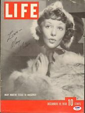 Mary Martin Signed 1938 LIFE Magazine Cover PSA/DNA COA Autograph Peter Pan Emmy