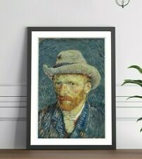 Van Gogh Self Portrait  FRAMED WALL ART POSTER PAINTING PRINT 4 SIZES