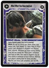 STAR WARS CCG 5x7 BOX TOPPER MIND WHAT YOU HAVE LEARNED SAVE YOU IT CAN PROMO