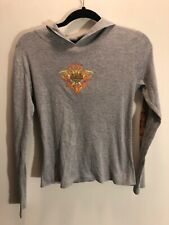 Vntg HARLEY-DAVIDSON women's Size L long sleeve thin hoodie Gray Orwigsburg, PA