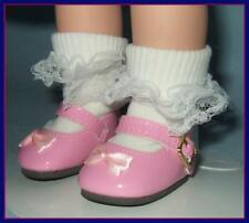 """2 x 1 inch PINK Patent Doll Shoes fit Ideal P-90 14"""" Betsy McCall & TONI"""