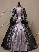 Renaissance Gothic Brocade Ball Gown Theater Dress Ghost Halloween Costume 119