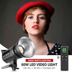Neewer 60W LED Video Light White Version with with Remote Control and Reflector