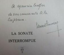 Envoi autographe Edouard de Grozyeulx à Maurice Escoffier. La sonate interrompue