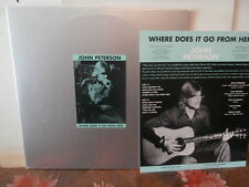 """john peterson""""where does it go from here""""lp12""""de 1997+ insert.uk.psych/arch1005"""