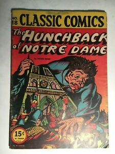 CLASSIC COMICS #18 HUNCHBACK Of Notre Dame 3rd Edition with an HRN 22 - VG
