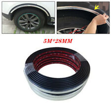 Universal 5M*28MM Car Wheel Rubber Eyebrow Protector Lip Arch Fender Strip Part