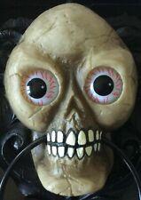 Halloween Animated Talking Skull Door Knocker Decoration ~ Light Up Eyes