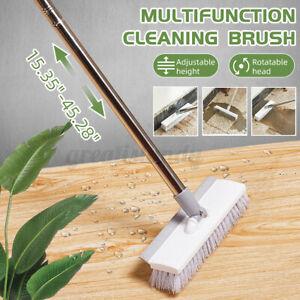 Bathroom Long Handle Brush Wall Floor Scrub Shower Tile adjustable Cleaning Tool