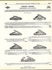 1910 ADVERT 4 PG Diamod Edge Pocket Knife Knives Fancy Pattern Fisherman Golf ++