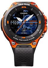 Casio WSD-F20 56.4 mm Orange Stainless Steel Case Black Classic Buckle - (WSD-F20-RG)