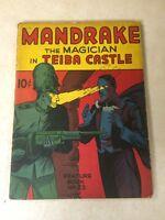 Mandrake the Magician feature book #23 LEE FALK 1940 TEIBA CASTLE tough to find