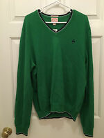 NWT Brooks Brothers Men's Supima Cotton Blue Green V-Neck Sweater XL
