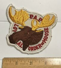 PAP Loyal Order of Moose Logo Embroidered Fraternal Patch