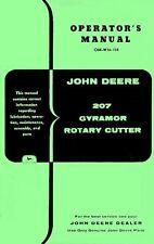 John Deere 207 Gyramor Rotary Cutter Operators Manual JD