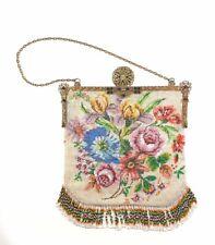 Damen Abendtasche, Trachtentasche Glasperlen mit Messing Glasperlen Verschluß