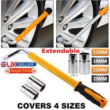 Extendable VAN Car Tyre Wrench Telescopic Socket Wheel Brace Nut 17 19 21 & 23mm