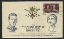 1937 Great Britain KGVI Coronation FDC - The Westminster Stamp Co. Cachet