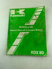 Genuine 1985 Kawasaki KDX80-C3 Owner's Service Shop Repair Manual OEM
