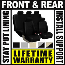 Oem Bucket 2 Pc Pair Truck Suv Bzm Solid Black Front Car Seat Covers Set
