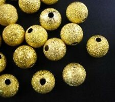 30pcs Gold Plated Stardust Spacer Beads 10mm C23