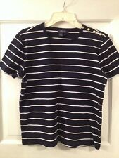 Ladies Xlarge Chaps Black And White Stripped Top