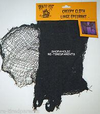 HALLOWEEN - BLACK  CREEPY CLOTH – DECORATION - HAUNTED HOUSE - 6' x 2' - NIP