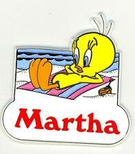 Tweety Bird Name Magnet ~ Martha ~ Looney Tunes Collectible~ Stocking Stuffer