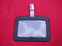 Genuine Leather ID Pass Card/Badge Holder+Belt Clip,Police/SO19/Security/SIA -LS
