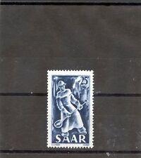 Saar Sc 216(Yt 261)*F-Vf Nh 1949 25F Blue $65