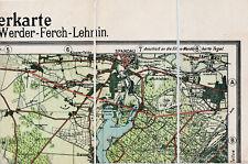 Spandau Staaken Westend Gatow 1913 Teilkarte/Ln. Auswanderer-Bhf. - Bhf. Stadion