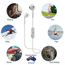 Wireless 4.1 Bluetooth Headset Sport Headphone Earphone Mic for Samsung iPhone