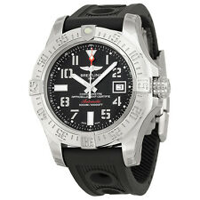 Breitling Avenger II Seawolf Automatic Black Dial Ruber Mens Watch