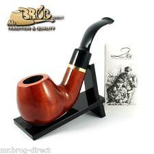 """OUTSTANDING Mr.Brog original smoking pipe nr. 60 teak """" GUARDIAN """" - 1st of Kind"""
