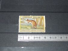 VIGNETTE CHOCOLAT POULAIN 1932 FRANCE CARNASSIERS & ANIMAUX SAUVAGES KANGOUROU