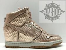 WMNS NIKE DUNK SKY HI CUT OUT PREMIUM METALLIC RED BRONZE WEDGE 644411 900 sz 9