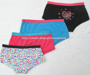 60% OFF! 4-PACK IMAGINE GIRL'S BOYSHORTS PANTIES 6-8 YEARS BNEW IN PACK US$ 9.99