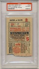 1936 World Series game 5 Ticket PSA