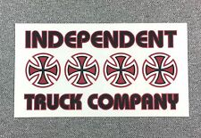 Independent Trucks Stacked color Skateboard Sticker 5.5in red-black/clear si