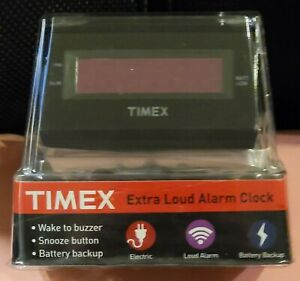 Timex Extra Loud Alarm Clock T126B BRAND NEW FACTORY SEALED! W/BATTERY BACK UP!
