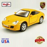 Maisto Power Racer Yellow 2016 Porsche 911 Carrera 4S 1:38
