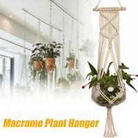 1M Pot Holder Macrame Plant Hanger Hanging Basket Hemp Rope Braid Craft  Decor
