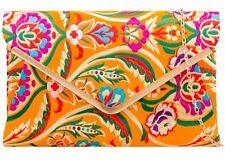 Mustard Clutch Bag Yellow Satin Floral Evening Bag Shoulder Bag Ladies Handbag