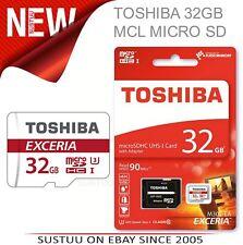 Toshiba 32GB Exceria MCL Scheda di Memoria Micro Sd con Adaptor │ 4K Compatibile