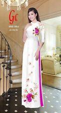 ao dai vietnamese traditonal long dress with Pant  ALL SIZE