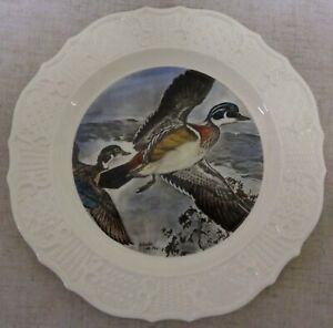The House of Seagram Wood Ducks Hand Colored Collectible Plate by Charles de Feo