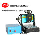 USB Mach3 Control 3Axis Engraver 3020 1500W Spindle CNC Router Engraving Desktop