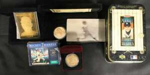 MICKEY MANTLE METAL CARD COIN SMALL SET LOT NEW YORK YANKEES GREAT T124