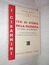 TESI DI STORIA DELLA FILOSOFIA Parte I L eta antica e medievale Corrado Ciranna